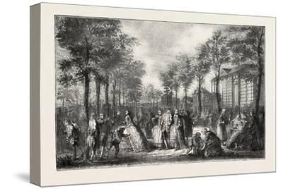 The Boulevards of Paris in the 18th Century, France, 1882--Stretched Canvas Print