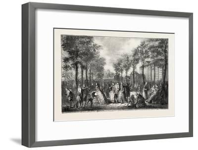 The Boulevards of Paris in the 18th Century, France, 1882--Framed Giclee Print