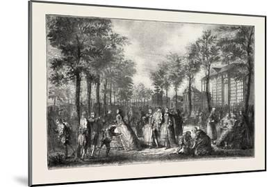 The Boulevards of Paris in the 18th Century, France, 1882--Mounted Giclee Print