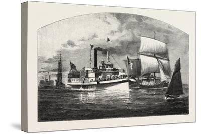 Montreal, the Longueuil Ferry, Canada, Nineteenth Century--Stretched Canvas Print