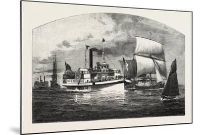 Montreal, the Longueuil Ferry, Canada, Nineteenth Century--Mounted Giclee Print