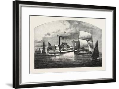 Montreal, the Longueuil Ferry, Canada, Nineteenth Century--Framed Giclee Print