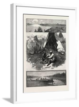 Scenes Along the Nelson River, Canada, Nineteenth Century--Framed Giclee Print