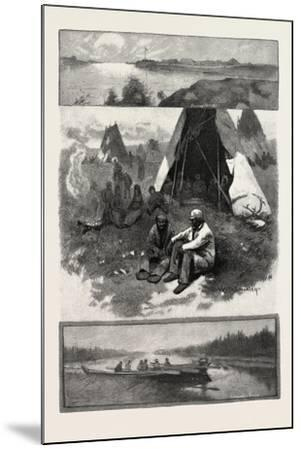 Scenes Along the Nelson River, Canada, Nineteenth Century--Mounted Giclee Print