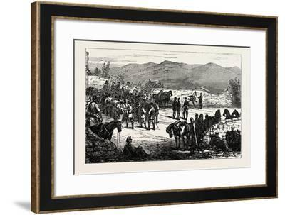 The Civil War in Spain: Serrano and His Staff at Montellano--Framed Giclee Print