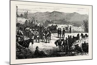 The Civil War in Spain: Serrano and His Staff at Montellano--Mounted Giclee Print