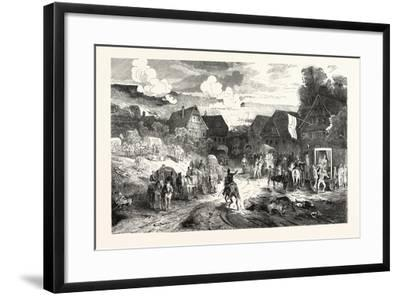 Franco-Prussian War: Hospital in a Village Near Wissembourg, France--Framed Giclee Print