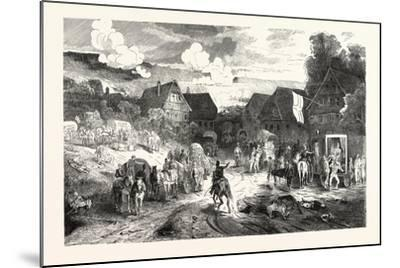 Franco-Prussian War: Hospital in a Village Near Wissembourg, France--Mounted Giclee Print