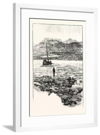 Boat in the Rapids. Western China 2000 Miles from Shanghai--Framed Giclee Print
