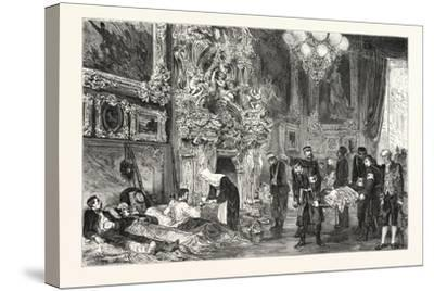 Franco-Prussian War: Hospital in Versailles Palace, France--Stretched Canvas Print