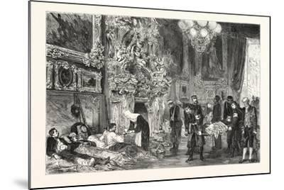 Franco-Prussian War: Hospital in Versailles Palace, France--Mounted Giclee Print