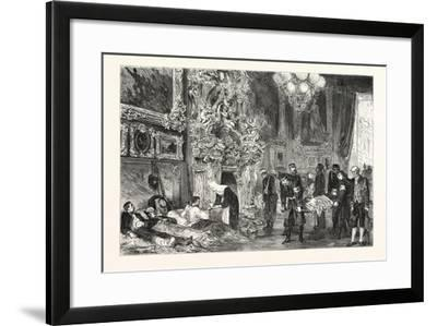 Franco-Prussian War: Hospital in Versailles Palace, France--Framed Giclee Print
