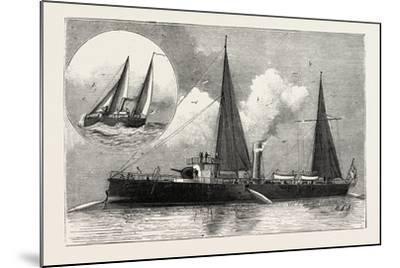 Torpedo Gun Boat, the Rattlesnake Launching Torpedoes, 1888--Mounted Giclee Print