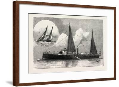 Torpedo Gun Boat, the Rattlesnake Launching Torpedoes, 1888--Framed Giclee Print