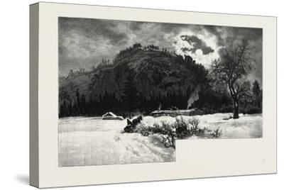Shanty at Eagle's Nest, Canada, Nineteenth Century--Stretched Canvas Print