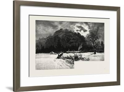 Shanty at Eagle's Nest, Canada, Nineteenth Century--Framed Giclee Print