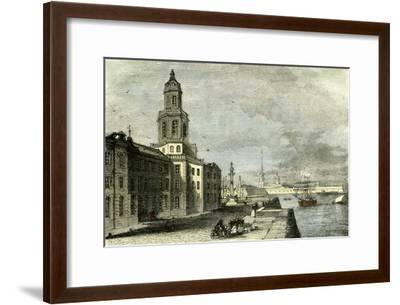 Saint Petersburg Russia 19th Century Academy of Science--Framed Giclee Print