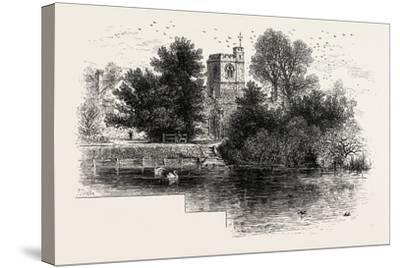 Bray Church, Scenery of the Thames, UK, 19th Century--Stretched Canvas Print