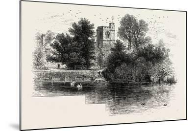 Bray Church, Scenery of the Thames, UK, 19th Century--Mounted Giclee Print