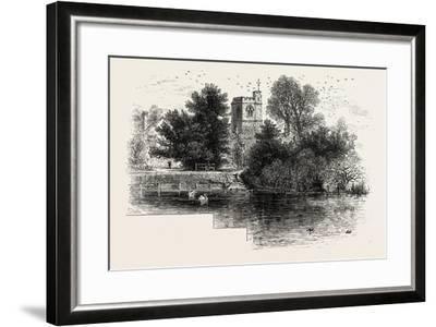 Bray Church, Scenery of the Thames, UK, 19th Century--Framed Giclee Print