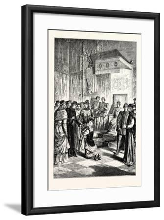 Joan of Arc Recognises Charles Vii. Among His Courtiers--Framed Giclee Print