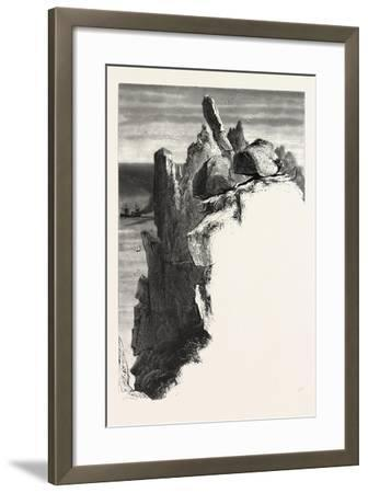 The Logan Rock, the Land's End, Uk, 19th Century--Framed Giclee Print
