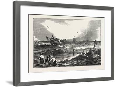 The Betsy Cains Ashore at Tynemouth, UK--Framed Giclee Print
