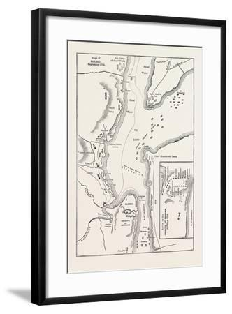 Plan of the Siege of Quebec, Canada, 1870s--Framed Giclee Print