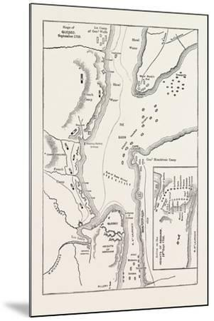 Plan of the Siege of Quebec, Canada, 1870s--Mounted Giclee Print