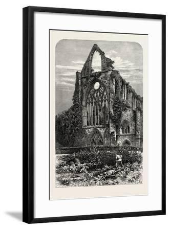 West Front of Tintern Abbey, UK, 19th Century--Framed Giclee Print
