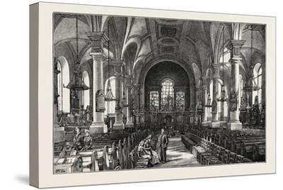 Derby: All Saints' Church, the Interior--Stretched Canvas Print