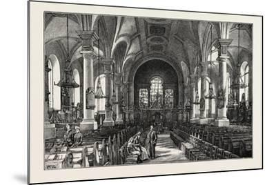 Derby: All Saints' Church, the Interior--Mounted Giclee Print