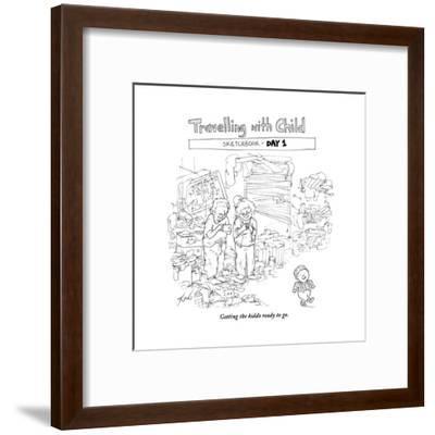 Traveling with Child - Day 1 - Cartoon-Tom Toro-Framed Premium Giclee Print