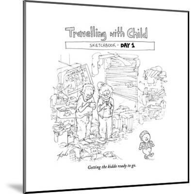 Traveling with Child - Day 1 - Cartoon-Tom Toro-Mounted Premium Giclee Print