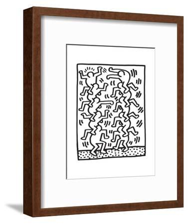 Untitled Pop Art-Keith Haring-Framed Giclee Print