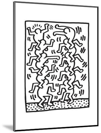 Untitled Pop Art-Keith Haring-Mounted Giclee Print