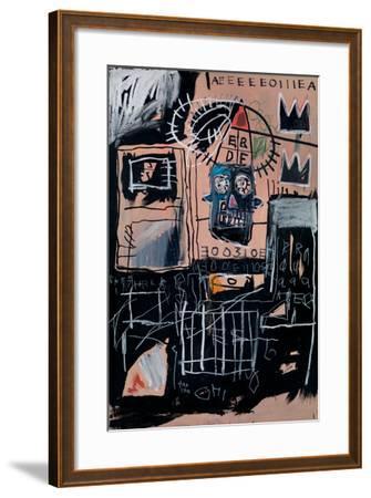 Untitled (Loans)-Jean-Michel Basquiat-Framed Giclee Print