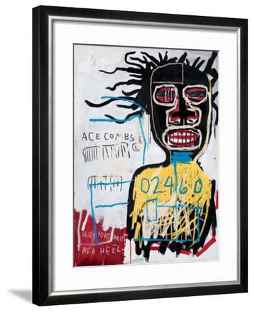 Self-Portrait as a Heel-Jean-Michel Basquiat-Framed Giclee Print