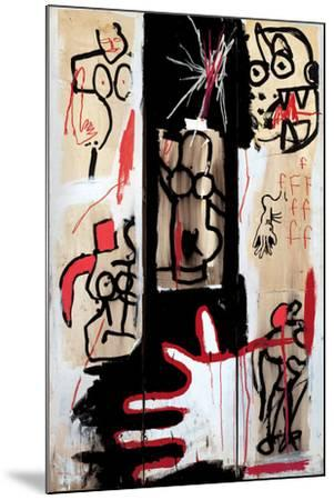 Rape of Roman Torsos-Jean-Michel Basquiat-Mounted Giclee Print