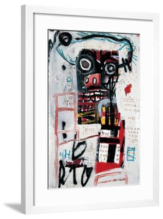 Number 1-Jean-Michel Basquiat-Framed Giclee Print