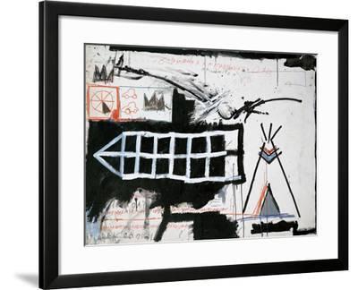 Untitled (Samo, New York)-Jean-Michel Basquiat-Framed Giclee Print