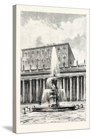 Fountain in Front of the Vatican, Rome, Italy--Stretched Canvas Print