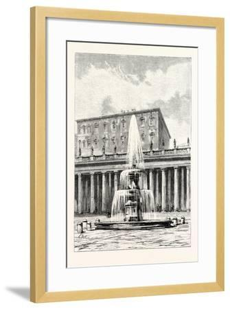 Fountain in Front of the Vatican, Rome, Italy--Framed Giclee Print