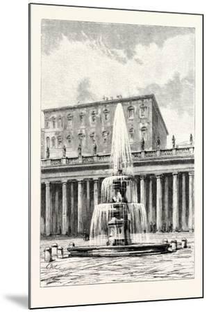 Fountain in Front of the Vatican, Rome, Italy--Mounted Giclee Print