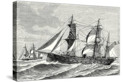 The Heroine Armored Frigate Launched in 1864--Stretched Canvas Print