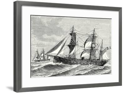 The Heroine Armored Frigate Launched in 1864--Framed Giclee Print