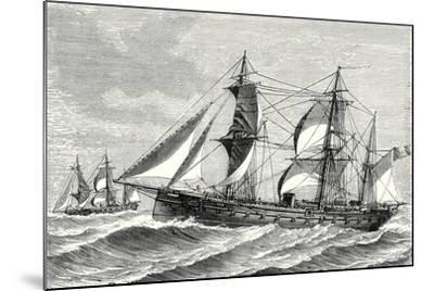 The Heroine Armored Frigate Launched in 1864--Mounted Giclee Print
