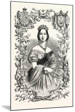 Queen Victoria. Queen of England, 1855--Mounted Giclee Print