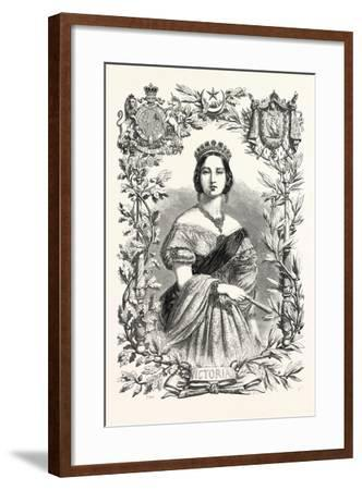 Queen Victoria. Queen of England, 1855--Framed Giclee Print