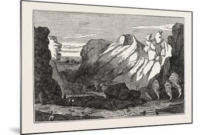 The Crater on the Peak of Teneriffe--Mounted Giclee Print